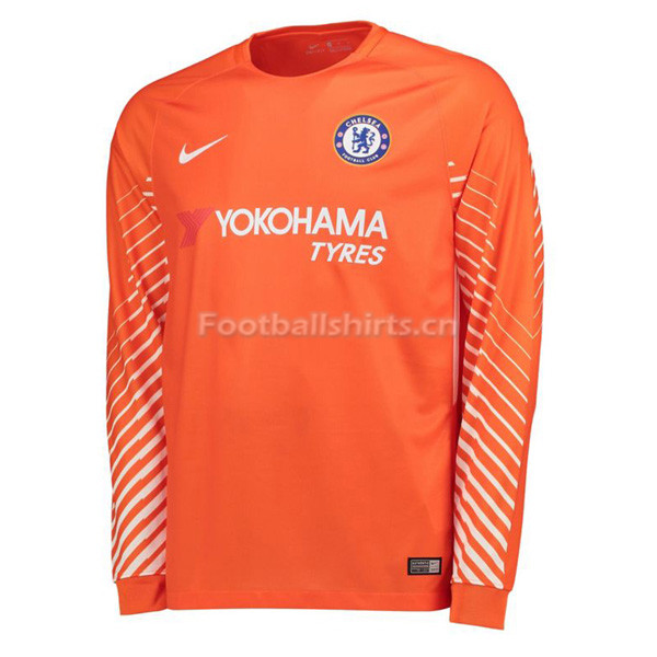 Chelsea Orange Goalkeeper Long Sleeve Soccer Jersey 2017/18