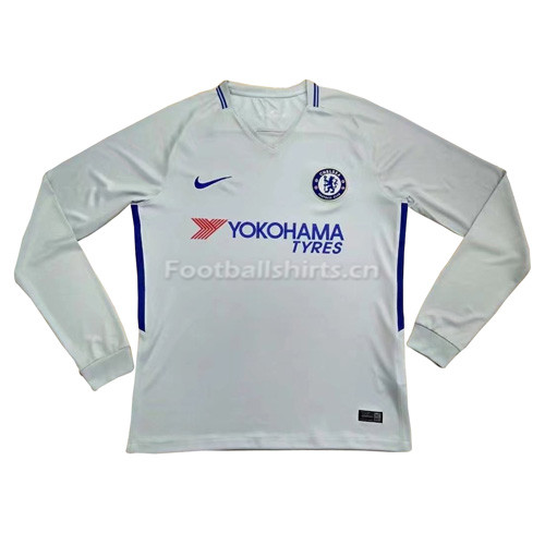Chelsea Away Long Sleeve Soccer Jersey 2017/18