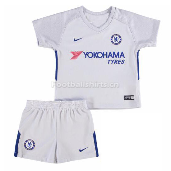 Kids Chelsea Away Soccer Kit Shirt + Shorts 2017/18
