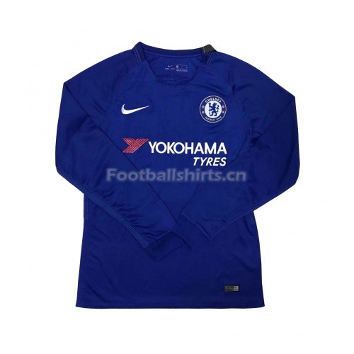 Chelsea Home Long Sleeve Soccer Jersey 2017/18
