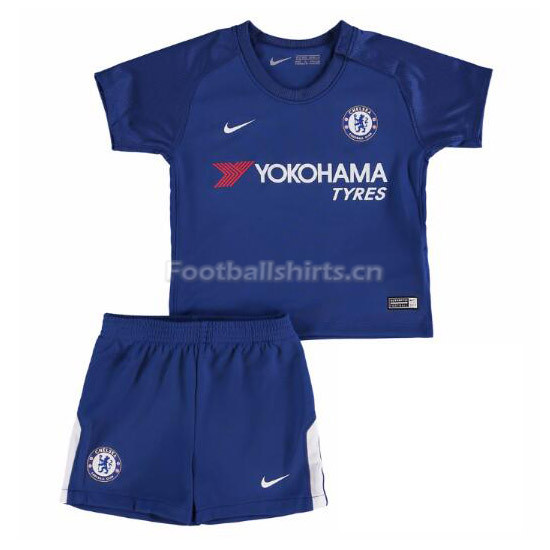Kids Chelsea Home Soccer Kit Shirt + Shorts 2017/18