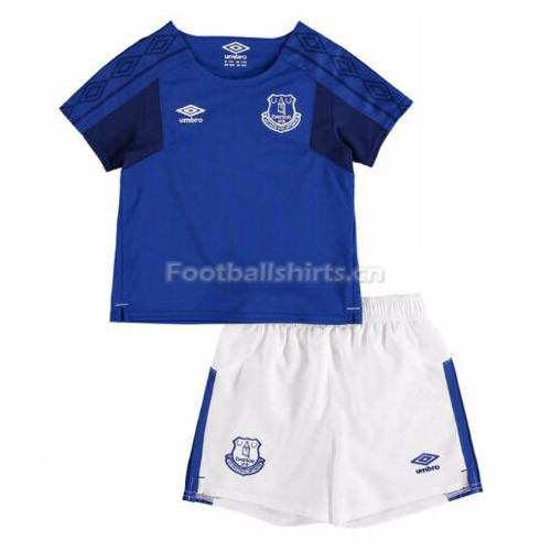 Kids Everton Home Soccer Kit Shirt + Shorts 2017/18