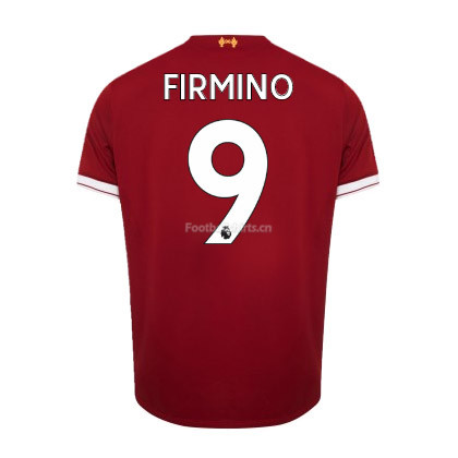 Liverpool Home Firmino #9 Soccer Jersey 2017/18