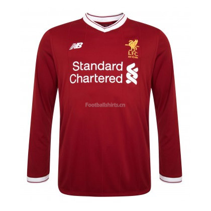 Liverpool Home Long Sleeve Soccer Jersey 2017/18