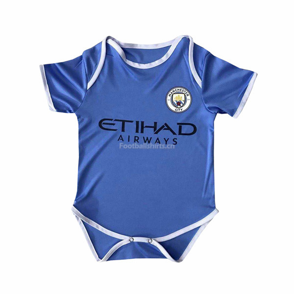Manchester City Home Infant Soccer Jersey Little Bady 2017/18