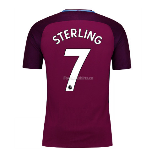 Manchester City Away Sterling #7 Soccer Jersey 2017/18