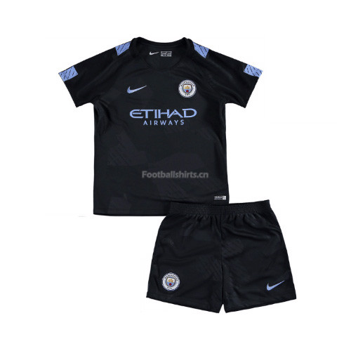 Kids Manchester City Third Soccer Kit Shirt + Shorts 2017/18