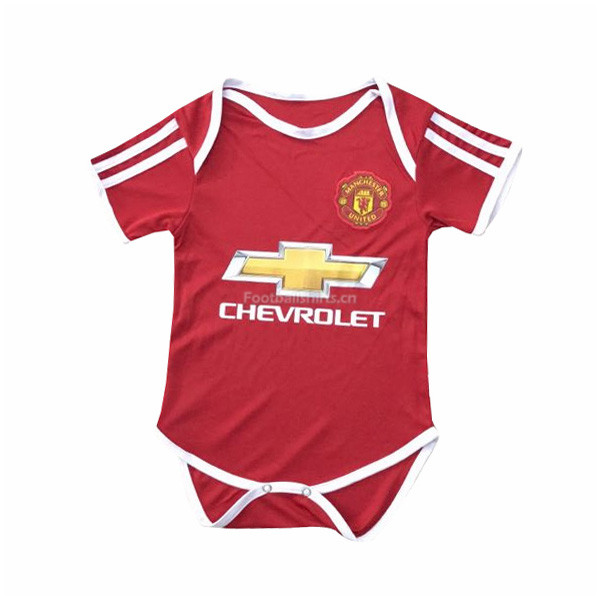 Manchester United Home Infant Soccer Jersey Little Bady 2017/18