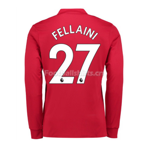 Manchester United Home Fellaini #27 Long Sleeve Soccer Shirt 201