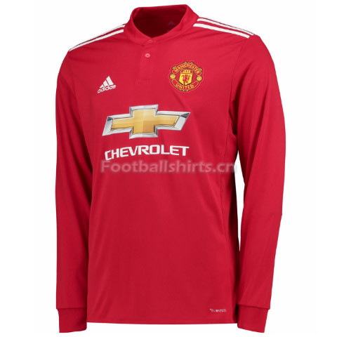 Manchester United Home Long Sleeve Soccer Jersey 2017/18