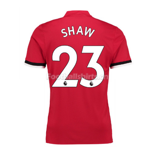 Manchester United Home Shaw #23 Soccer Jersey 2017/18