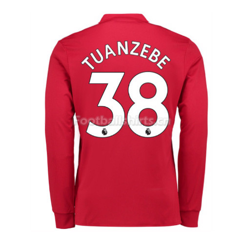 Manchester United Home Tuanzebe #38 Long Sleeve Soccer Shirt 201