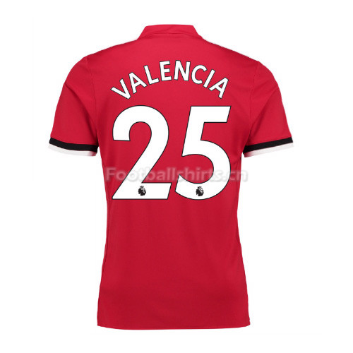Manchester United Home Valencia #25 Soccer Jersey 2017/18