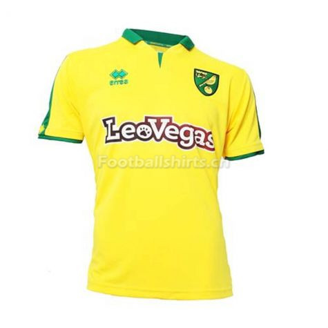 Norwich City Errea Home Soccer Jersey 2017/18