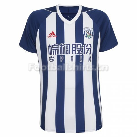 West Bromwich Albion Home Soccer Jersey 2017/18