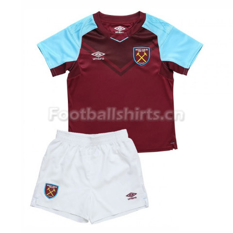 Kids West Ham United Home Soccer Kit Shirt + Shorts 2017/18