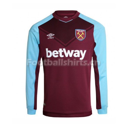 West Ham United Home Long Sleeve Soccer Jersey 2017/18