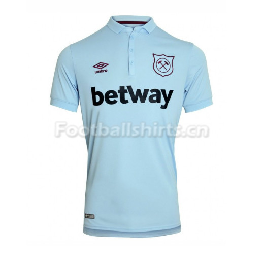 West Ham United Third Soccer Jersey Blue 2017/18