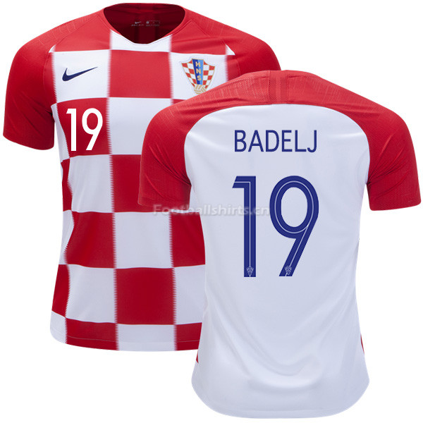 Croatia 2018 World Cup Home MILAN BADELJ 19 Soccer Jersey
