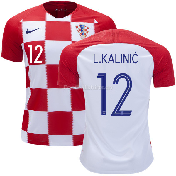 Croatia 2018 World Cup Home LOVRE KALINIC 12 Soccer Jersey