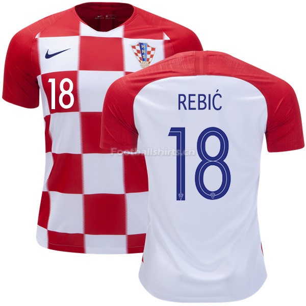 Croatia 2018 World Cup Home ANTE REBIC 18 Soccer Jersey