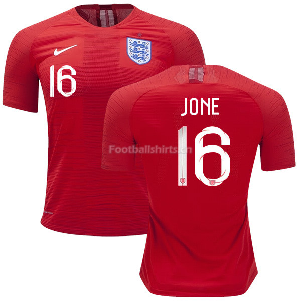 England 2018 FIFA World Cup PHIL JONES 16 Away Soccer Jersey