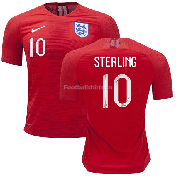 England 2018 FIFA World Cup RAHEEM STERLING 10 Away Soccer Jerse