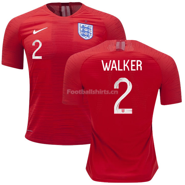 England 2018 FIFA World Cup KYLE WALKER 2 Away Soccer Jersey