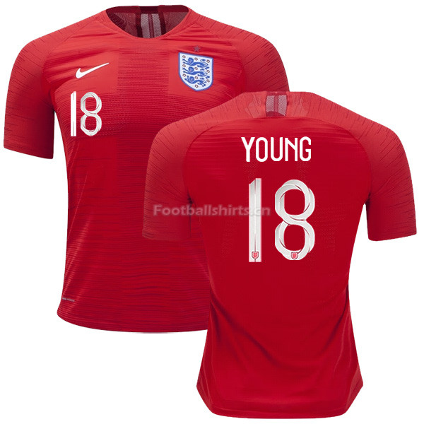England 2018 FIFA World Cup ASHLEY YOUNG 18 Away Soccer Jersey