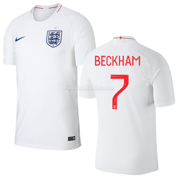 England 2018 FIFA World Cup DAVID BECKHAM 7 Home Soccer Jersey