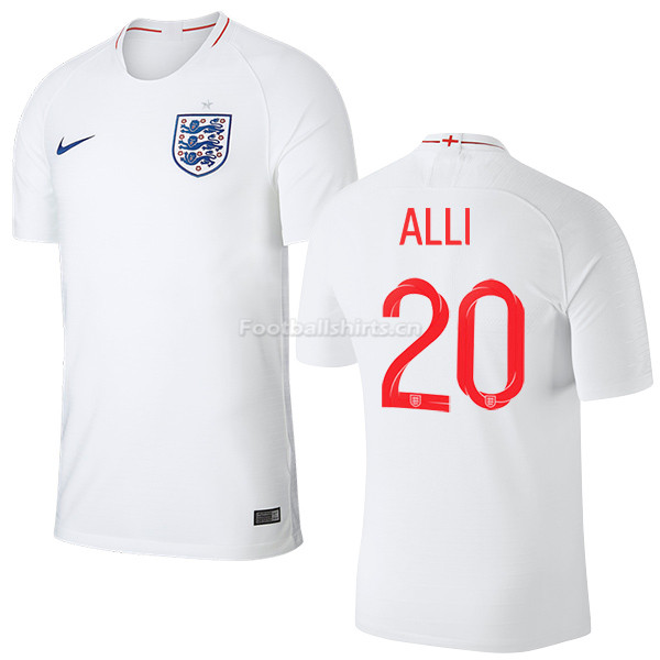 England 2018 FIFA World Cup DELE ALLI 20 Home Soccer Jersey