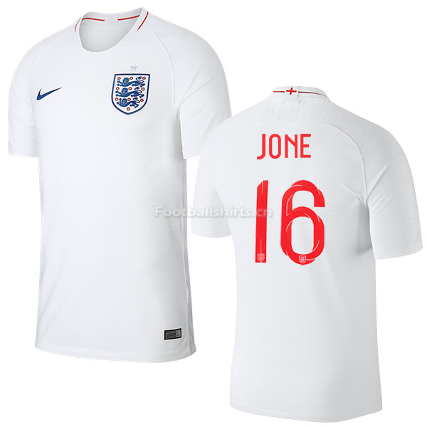 England 2018 FIFA World Cup PHIL JONES 16 Home Soccer Jersey