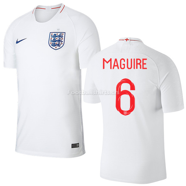 England 2018 FIFA World Cup HARRY MAGUIRE 6 Home Soccer Jersey
