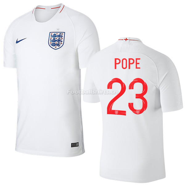 England 2018 FIFA World Cup POPE 23 Home Soccer Jersey