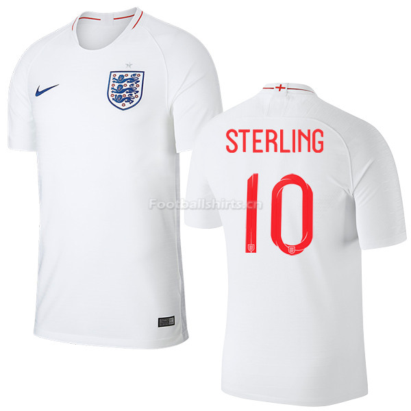 England 2018 FIFA World Cup RAHEEM STERLING 10 Home Soccer Jerse