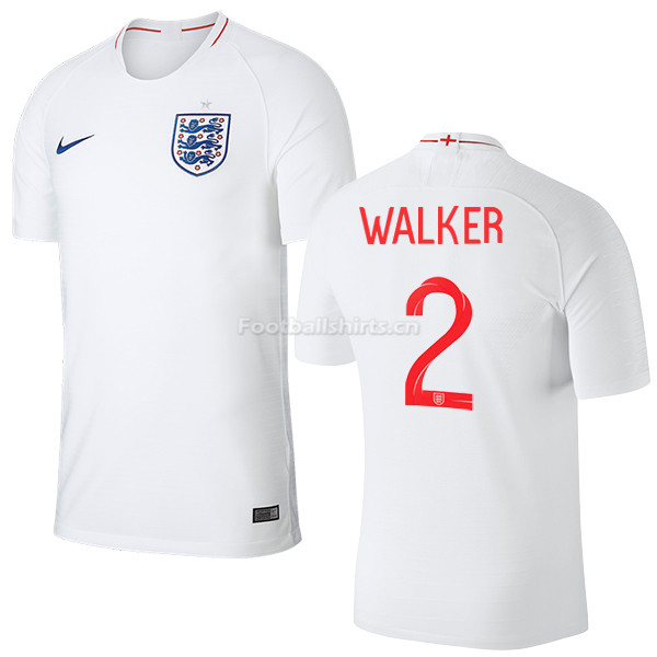 England 2018 FIFA World Cup KYLE WALKER 2 Home Soccer Jersey