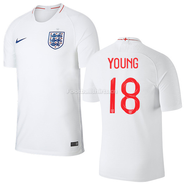 England 2018 FIFA World Cup ASHLEY YOUNG 18 Home Soccer Jersey