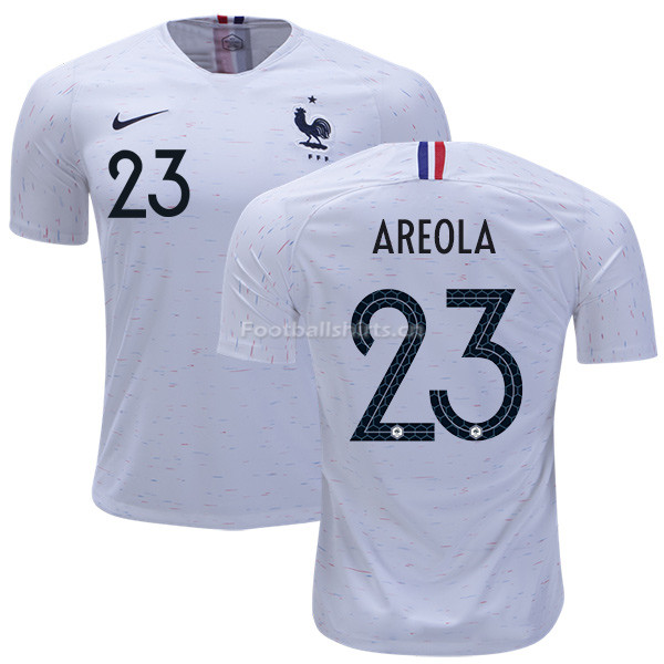 France 2018 World Cup ALPHONSE AREOLA 23 Away Soccer Jersey