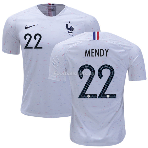 France 2018 World Cup BENJAMIN MENDY 22 Away Soccer Jersey