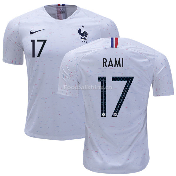 France 2018 World Cup ADIL RAMI 17 Away Soccer Jersey
