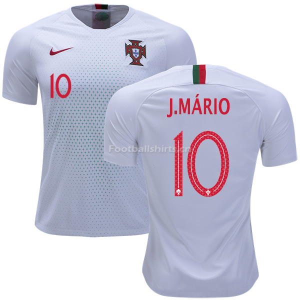 Portugal 2018 World Cup JOAO MARIO 10 Away Soccer Jersey