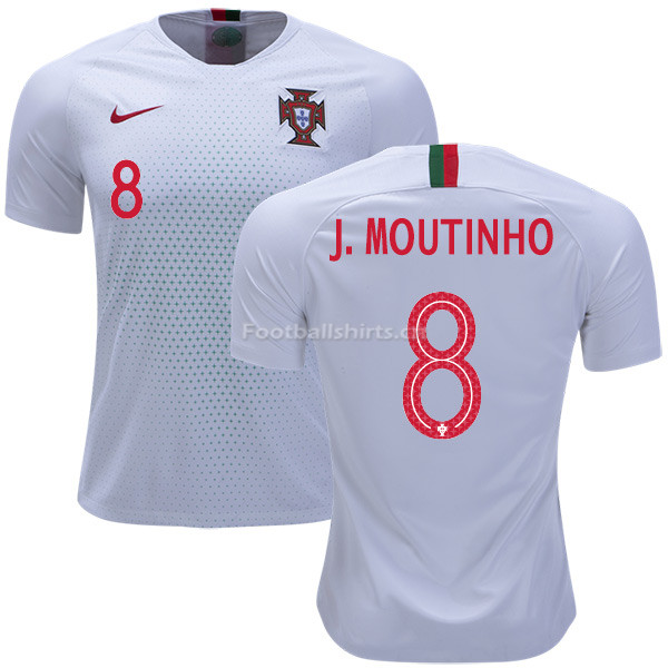 Portugal 2018 World Cup JOAO MOUTINHO 8 Away Soccer Jersey