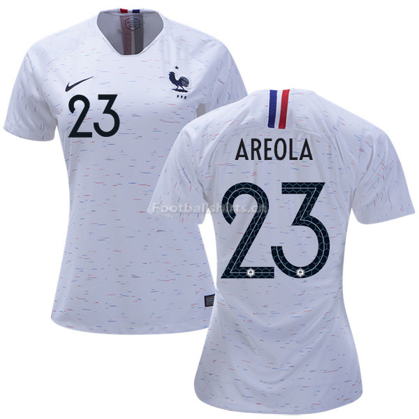 France 2018 World Cup ALPHONSE AREOLA 23 Women's Away Soccer Jer