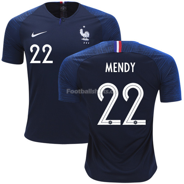 France 2018 World Cup BENJAMIN MENDY 22 Home Soccer Jersey