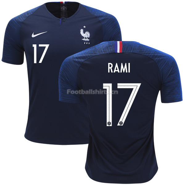 France 2018 World Cup ADIL RAMI 17 Home Soccer Jersey