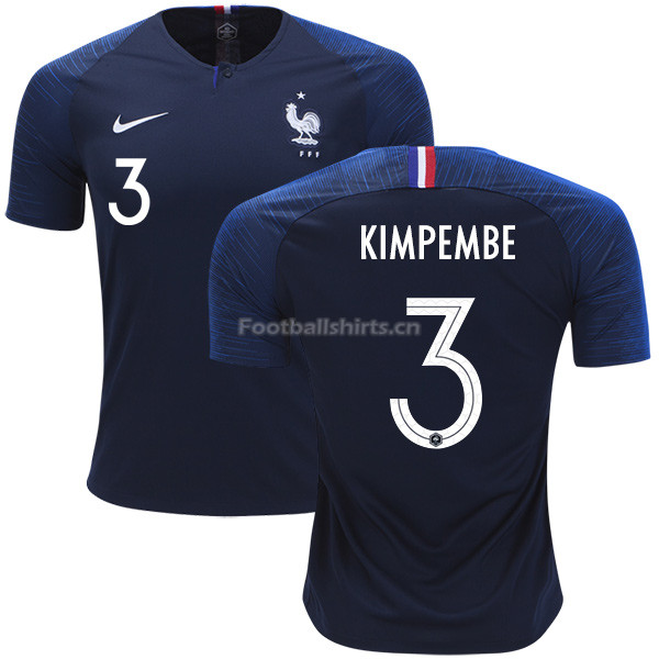 France 2018 World Cup PRESNEL KIMPEMBE 3 Home Soccer Jersey
