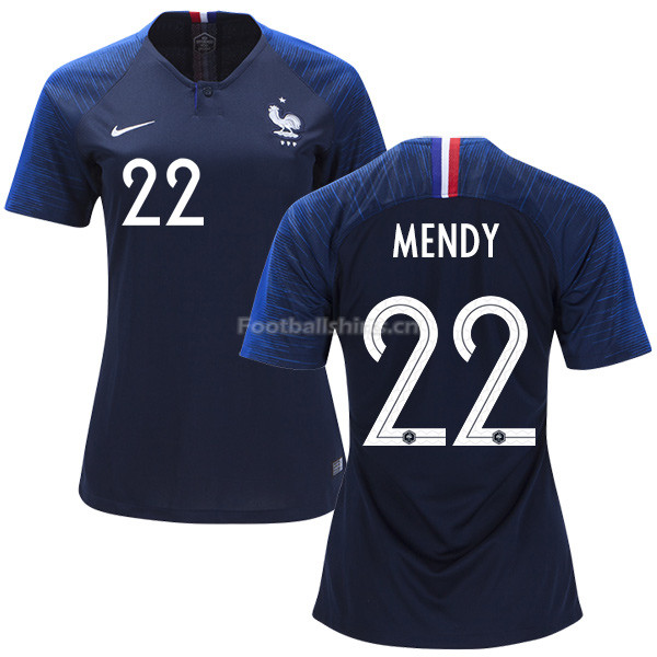 France 2018 World Cup BENJAMIN MENDY 22 Women's Home Soccer Jers