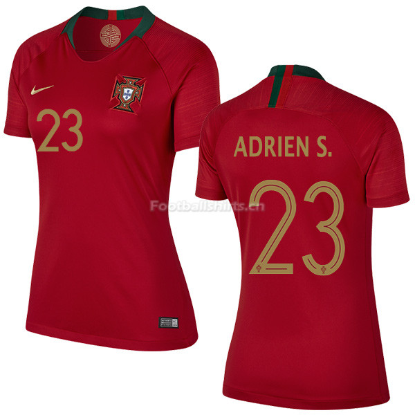 Portugal 2018 World Cup ADRIEN SILVA 23 Home Women's Soccer Jers