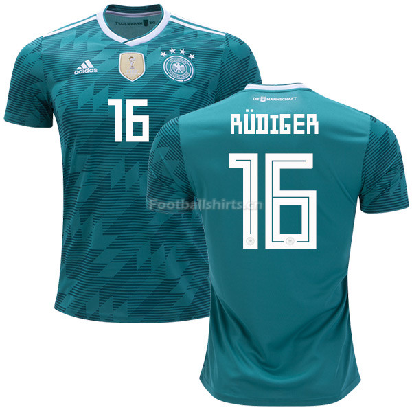 Germany 2018 World Cup ANTONIO RUDIGER 16 Away Soccer Jersey