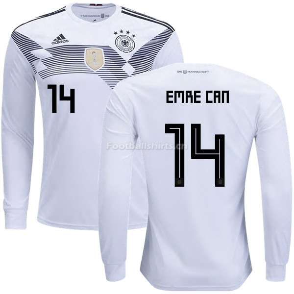 Germany 2018 World Cup EMRE CAN 14 Home Long Sleeve Soccer Jerse